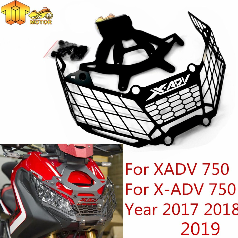 Head Light Lamp Grille Guard Protector Silver For 2017-2019 HONDA X-ADV XADV 750