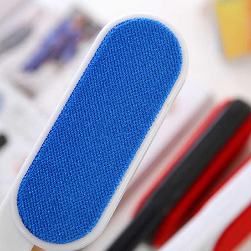 Statik kürk temizleme fırçaları Pet saç pamuk tiftiği temizleyici kullanımlık cihazı toz fırça çift taraflı elektrostatik toz temizleyiciler
