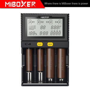 Image 3 - MiBoxer C4 Battery Smart Charger Double AA Max 2.5A/Slot Super Fast 18650 14500 26650 Charger discharge Charge function