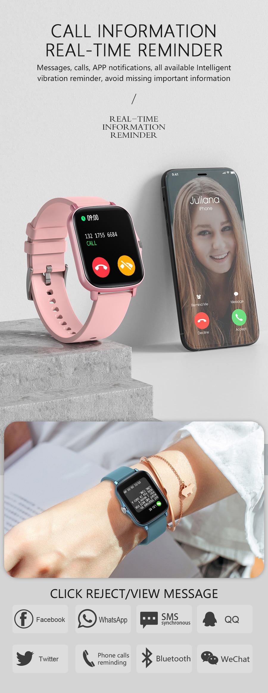 H329978584dba422c888ed88706dcfb4cZ Full Touch Y20 Sport Smart Watch Men Women IP68 custom dial Heart Rate Fitness Tracker Smartwatch wristwatch GTS 2 P8 plus