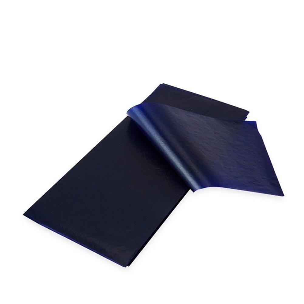 50 Pcs Blue Double Sided Carbon Paper Copy Carbon Paper Supplies /32K/16K School Paper Type 48K Thin Finance Office Station D8E7
