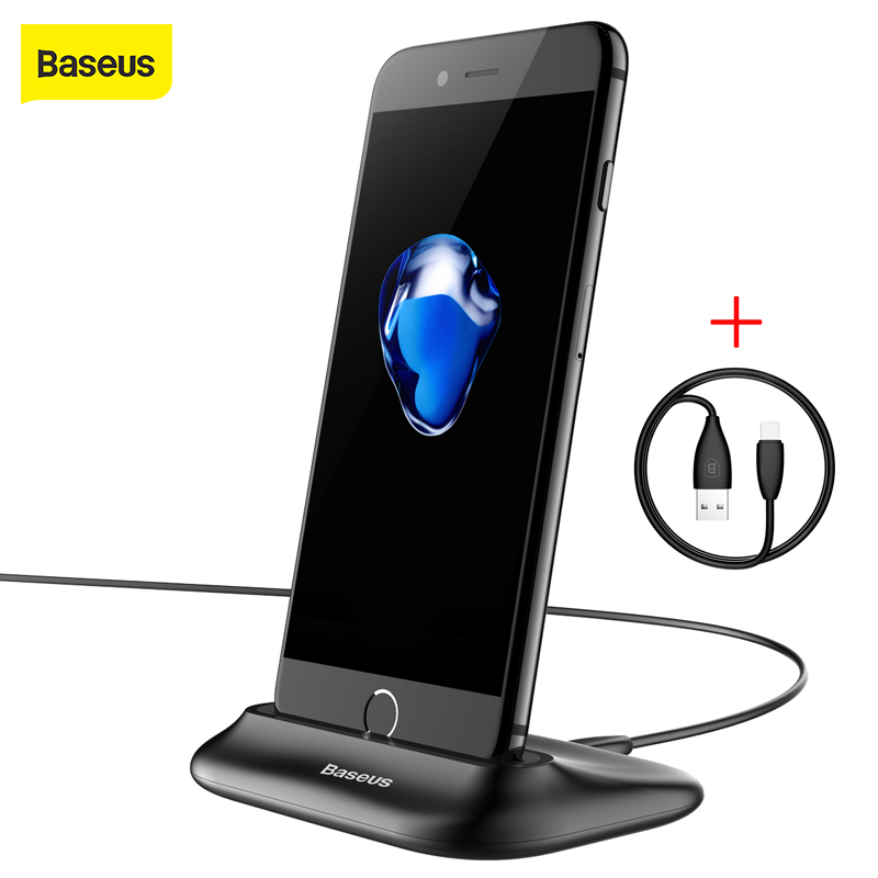 Baseus Docking Desktop Carregador Usb para iPhone Sync Data Desktop Dock de carregamento Estação para iPhone Transmission Data Charging Fast