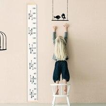 Baby Kind Kinder Höhe Herrscher Kinder Wachstum Größe Diagramm Höhe Messen Lineal Leinwand Abnehmbare Zimmer Hause Dekoration Kunst Ornament