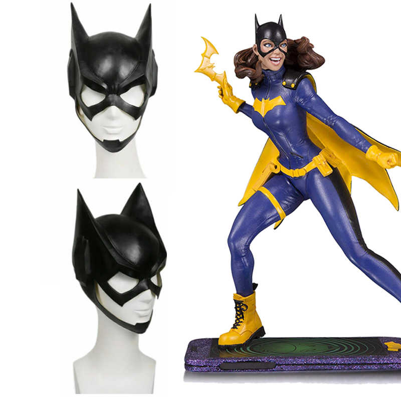 Coslive DC Comics Batgirl Topeng Batman Lateks Helm Cosplay Kostum Props Aksesoris Film Replika Wanita Halloween