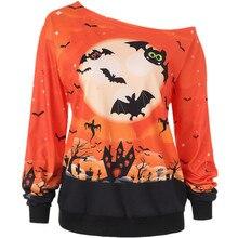 pumpkin print sweatshirt halloween women 2019 oversized hoodie korean streetwear girls sweatshirts vintage cotton gothic
