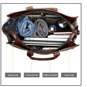 Image 5 - Di alta Qualità Classico Computer Portatili Valigetta in Vera Pelle Naturale Borse Da Viaggio degli uomini di 15.6 Pollici del Sacchetto di Uomo di Affari Del Sacchetto Per Macbook pro