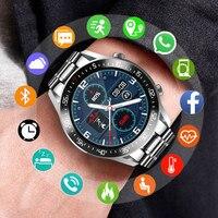 LIGE-reloj Digital con correa de acero para hombre, nuevo accesorio de pulsera de cuarzo resistente al agua con Bluetooth, complemento masculino deportivo con pantalla LED, Incluye caja, 2020