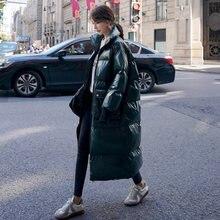 Зимняя зеленая пуховая куртка для женщин 2020 модная трендовая