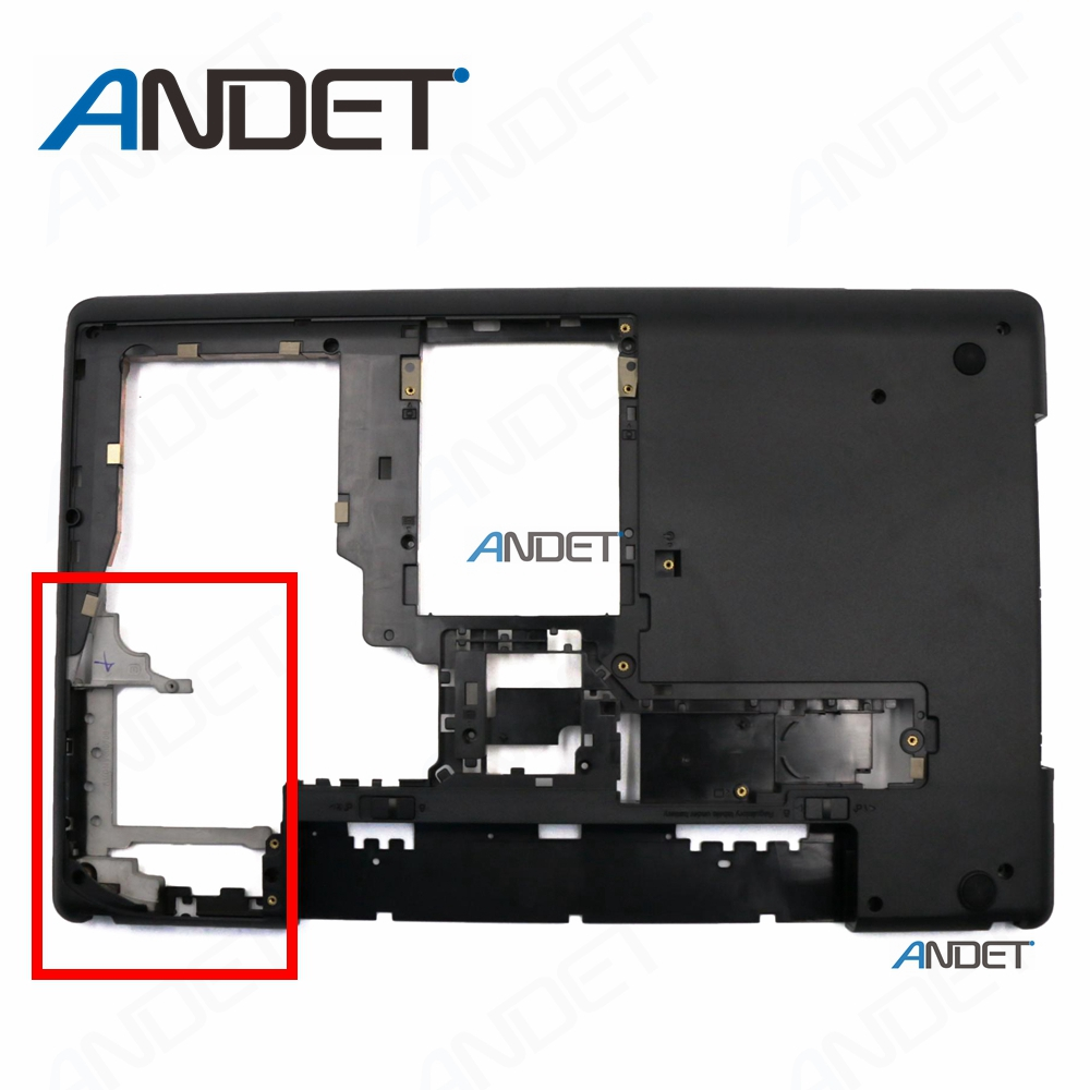 New Orginal For Lenovo ThinkPad E530 E535 E530C E545 15W Laptop Bottom Base Cover Lower Case + Hinge Set 04W4110 AM0NV000700