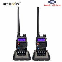 Retevis rt5r walkie talkie 2 pçs 5w 128ch usb vhf uhf presunto rádio em dois sentidos comunicador para caça/airsoft baofeng UV 5R uv5r