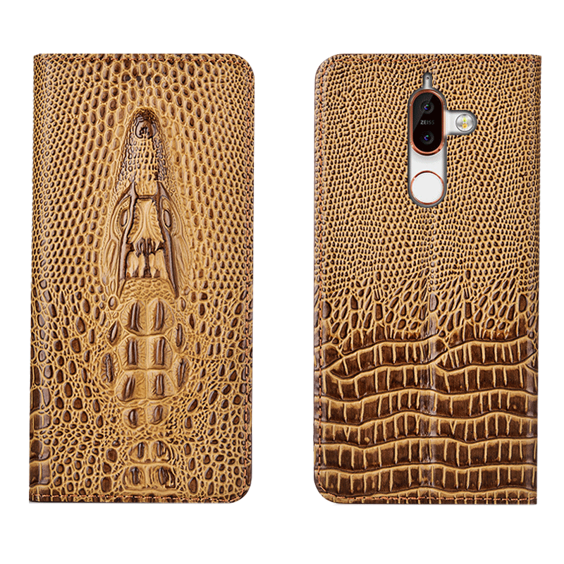 Business genuine leather ultra slim phone cover for Nokia 7 Plus/Nokia 7 durable protective phone case card slot holder funda - title=
