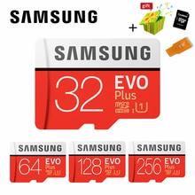 SAMSUNG Microsd карта 256 г 128 ГБ 64 ГБ 32 ГБ 16 ГБ 8 ГБ 100 МБ/с. Class10 U3 U1 SDXC Класс EVO+ карта памяти Micro SD карты TF флэш-карты
