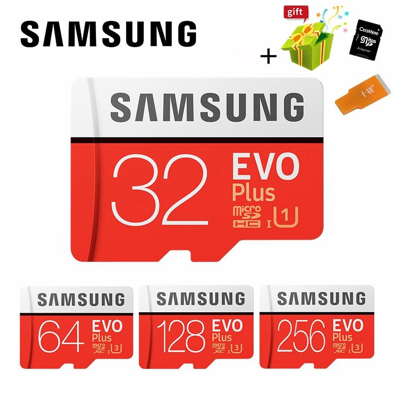 Carte Microsd SAMSUNG 256G 128GB 64GB 32GB 16GB 8GB 100 mo/s Class10 U3 U1 SDXC Grade EVO + carte mémoire Micro SD carte mémoire TF