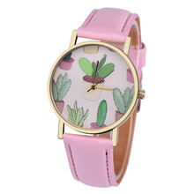PESIRM Bussiness Kol Saati Cactus Potted Pattern Quartz Womens Watches Bayan Saaty Fashion