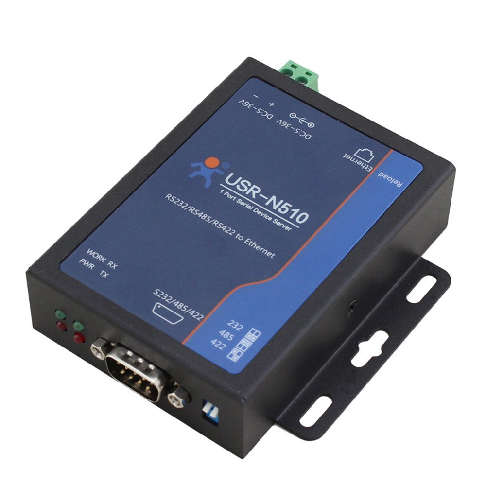 USR-N510 RS232/RS485/RS422 Single Serial To Ethernet Converter