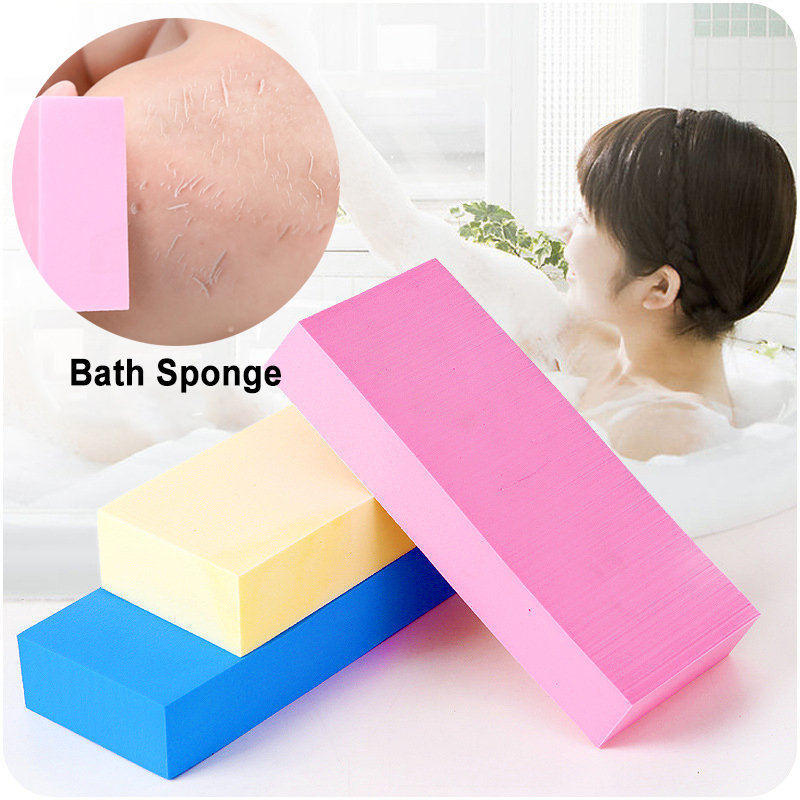 1pcs Scrub Exfoliating Sponge Brush Bathing Durable Powerful Bath Shower Sponge Adult Body Massage Random Color