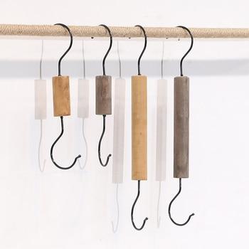 Metal Iron S Hook Clothing Store Display Hanger Wooden S-shape Hook cs 12 24 in s hook s hook not include pot