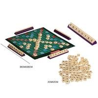 Ingilizce fransızca sürüm bulmacalar kurulu yazım Scrabble kurulu oyunu bulmaca yazım oyunu çocuklar için bulmacalar kurulu masa|Bulmacalar|   -