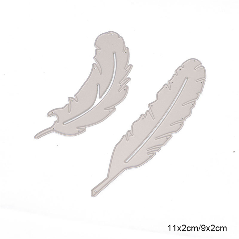 Feather Christmas Metal Cutting Dies Stitched Diy Scrapbooking Stamps Craft Embossing Die Cut Making Stencil Template New 2020 Aliexpress