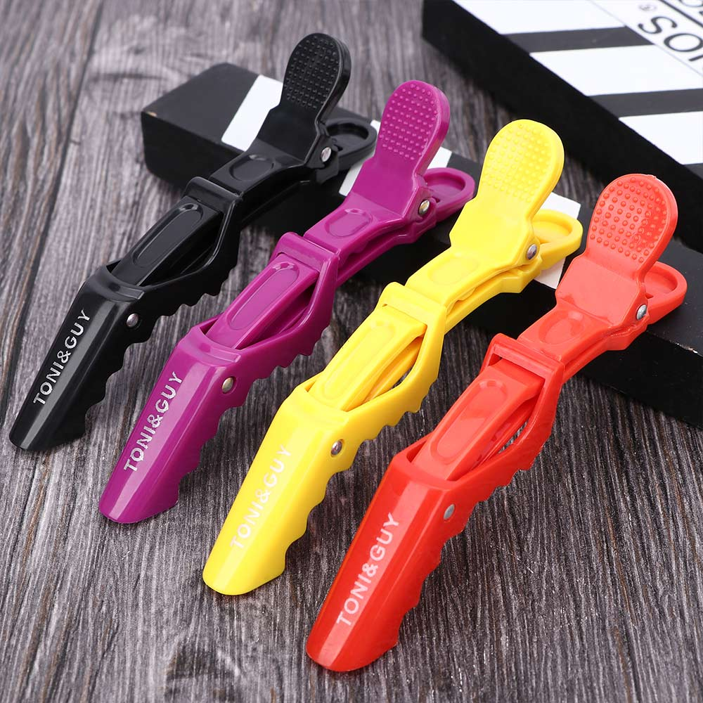 5PCS Women Alligator Hair Clips Professional Hairdressers Clamps Plastic Hair Clipper Crocodile Hairpins Salon Hair Care Styling