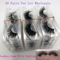 Wholesale Mink Eyelashes 30 Pairs 3D Mink Lashes Bulk Eyelash Extension Natural False Eyelashes Makeup Dramatic Long Eye Lashes