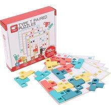 Kinderen Puzzel Speelgoed Vorm Matching Game Kleur Cognitieve Logisch Denken Focus Op Geavanceerde Training Board Games Montessori