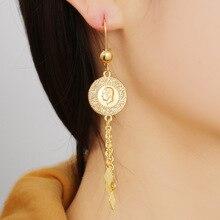 ไม่เคยFadedเครื่องประดับมุสลิมเหรียญDangleต่างหูสำหรับผู้หญิงเครื่องประดับต่างหูต่างหูผู้หญิงต่างหู