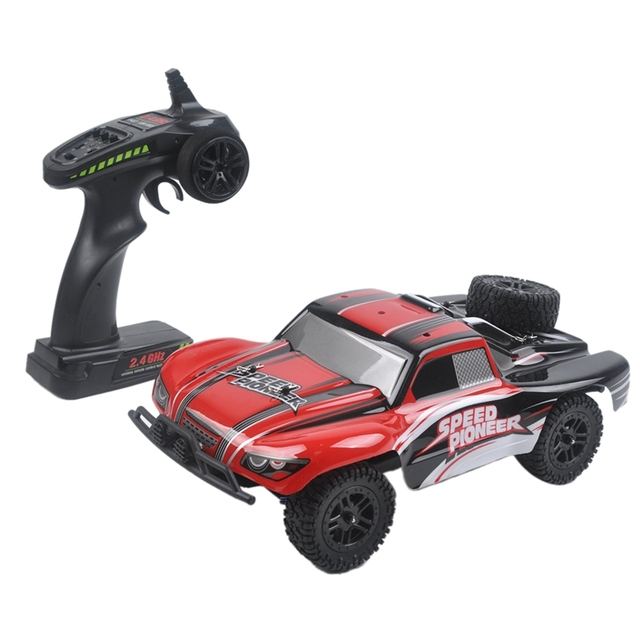 9301X RC Car 1/18 4WD 2.4G 50KM/H High Speed RC Car Remote Control Truck Toys Brushless Desert Crawler Car Vehicle Red 1