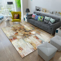Abstract art living room carpet home decoration floor mat soft bedroom carpet modern study nordic floor mat