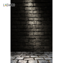 Laeacco Old Dark Brick Wall Floor Portrait Grunge Pet Photography Backgrounds Customized Photographic Backdrops For Photo Studio 12ft vinyl cloth dark old brick wall wood floor photo studio backgrounds for model newborn portrait photography backdrops f 257
