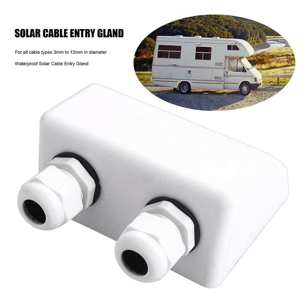 Yachts Accessories ABS Roof Solar Panel Double Cable Electrical Waterproof Stable Junction Box Protection Marine Entry Gland