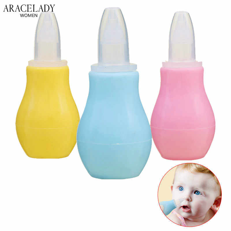 Baby Childish Aspirator Safe Nose Clean Silicone Infant Nasal Wash Nose Care Inhaler Preventing Backflow Cleaning Agent Babies