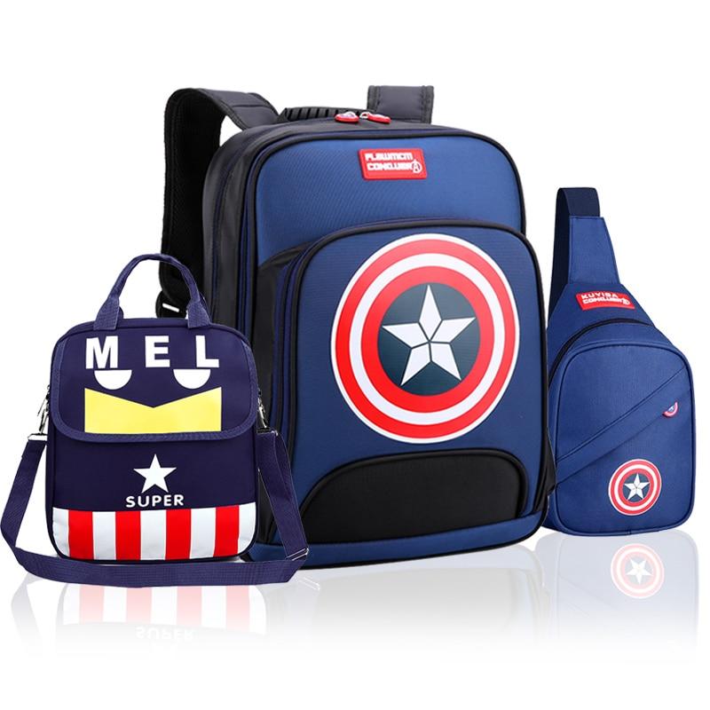 Children's Schoolbag Primary School Boy 1 2 3 Grade 6-12 Years Old 4 5 6 Grade Boy Backpack Light Lose The Burden Boy Gift
