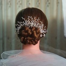 3 Pcs/set Bridal Handmade Hair Accessories Artificial Pearl Women Wedding Dress Headdress Jewelry Hair Comb Hairpin T4MD