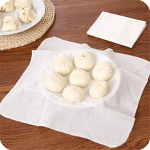 Square cotton and linen steamer cloth kitchen utensils steamed buns roll non-stick bamboo cloth small cage gauze steaming cloth
