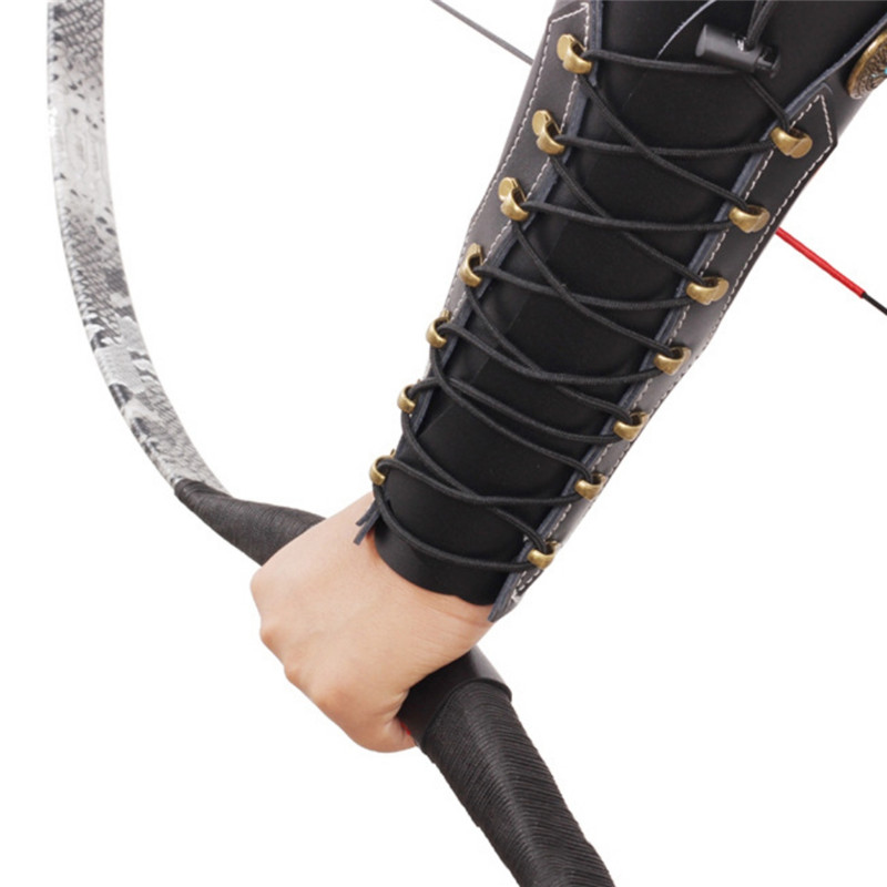 Promote¡Arm-Guard Hold Shoot Recurve Archery Traditional Hunt The To with Hardware Cowhide