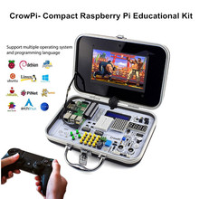 Elecrow Crowpi Universal RPI 7'' Capacitive Touch Screen HDMI LCD Display with Raspberry Pi 4 Model B Educational Learning Kit ctp capacitive touching panel with 5 inches lcd display screen for raspberry pi display b 800 480 diy module kit