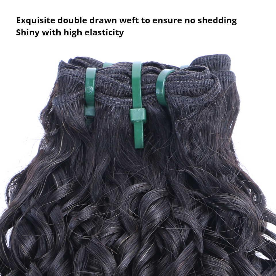 Königin Nala 12A Funmi Haarwebart Bundles Doppel Gezogen Europäischen Funmi Tiefe Unverarbeitete Reines Menschenhaar