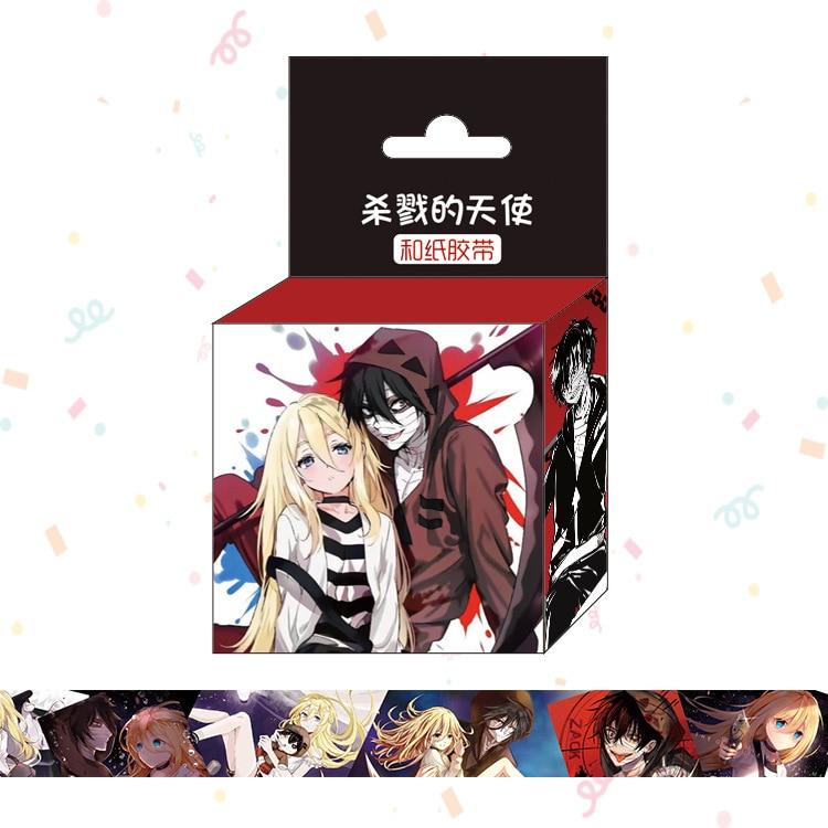 1.5cm*5m New Japan Anime Angels Of Death Washi Tape Adhesive Tape DIY Scrapbooking Sticker Label Masking Tape