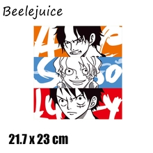 24pcs One piece Cartoon patches for clothing DIY Grade-A Thermal transfer stickers decorate accessories