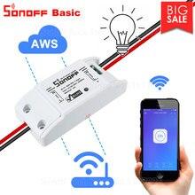 Itead Sonoff básicos R2 Wifi DIY inteligente interruptor remoto inalámbrico de domótica Controlador de luz para trabajar con Alexa Google eWeLink