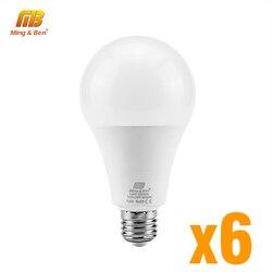 6 pièces/lot LED ampoule E27 9W 12W 15W 18W AC220V Lampada jour blanc froid blanc chaud haute luminosité lampe pour chambre salon