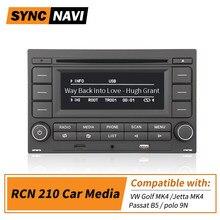 Автомобильная Мультимедийная система RCN210, мультимедийный плеер с CD плеером, USB, AUX, TFT, Bluetooth, для VW Golf MK4, Jetta MK4, Passat B5, polo 9N