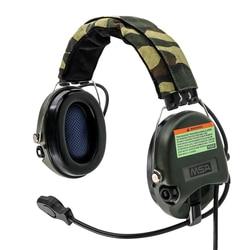 Taktyczne polowanie Pickup redukcja szumów Sordin słuchawki Airsoft wojskowy zestaw słuchawkowy taktyczne Softair Walkie Talkie Headse FG