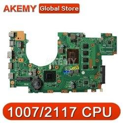 X402CA материнская плата для ноутбука ASUS X502CA X402C X502C тест оригинальная материнская плата DDR3L 4G RAM 2 ядра 1007/2117 CPU