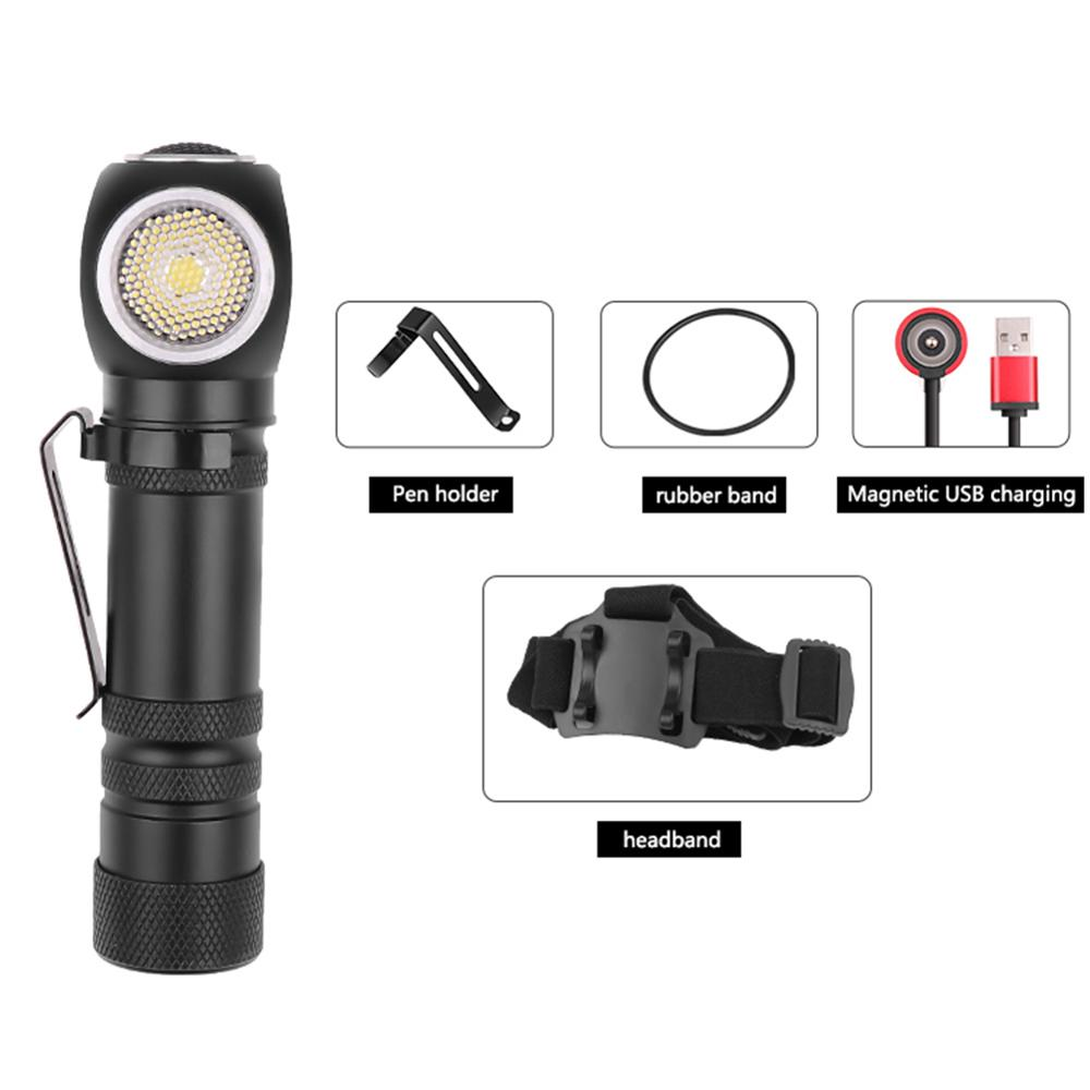 VKTECH XHP 50 LED Torch Flashlight 3 Modes Glare Lamp USB Bicycle Light Waterproof Lighting For Car Overhaul Working Camping Hot