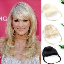 Peluca sintética recta corta con flequillo para mujer, cabello liso Natural resistente al calor, pinza frontal