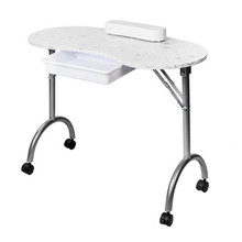 Portable MDF Manicure Table with Arm Rest & Drawer Salon Spa