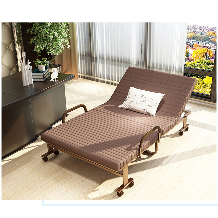 New Modern Iron Household / Office Chaise Lounge Folding Bed / Chair Escort Bed Collapsible Single Lunch Break Chair Multi-color