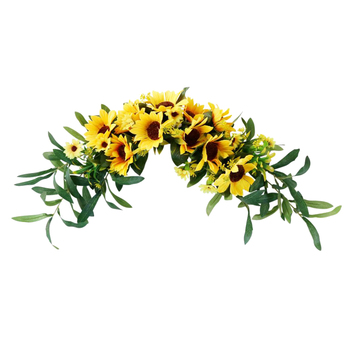 Front Door Wreath Garland Fake Sunflower Swag Arch Front Door Wall Decorations Artificial Sunflower Swag Sunflower Vines фото